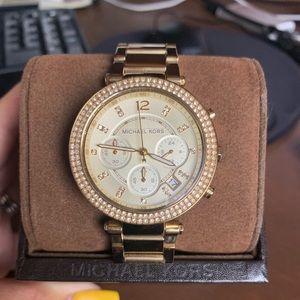 Michael Kors - MK Parker Gold-tone watch
